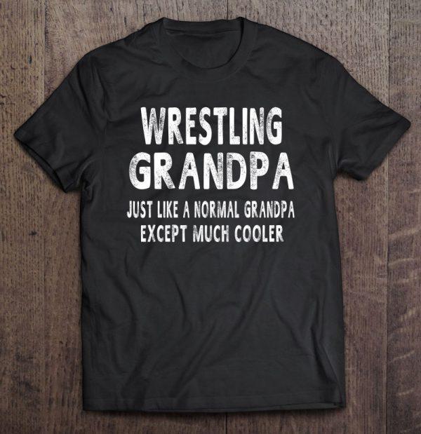 Wrestling grandpa father's day grandpa shirt