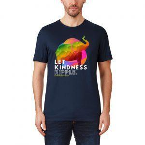 Zen Elephant Compassion Kindness Ripple Mindfulness Meditate Tee Shirts
