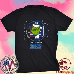 I Hate People But I Love My New York Giants Grinch 2021 T-Shirt