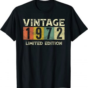 Vintage 1972 Limited Edition Gift 49th Birthday T-Shirt